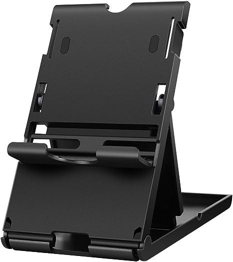 Wetoph Playstand para Nintendo Switch, GD16 Antideslizante Compacto Plegable, Multi-ángulo, Soporte Ajustable Soporte Dock Pad Phone Stand-Negro: Amazon.es: Videojuegos