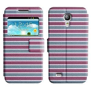 LEOCASE línea horizontal Funda Carcasa Cuero Tapa Case Para Samsung Galaxy S4 Mini I9190 No.1007341