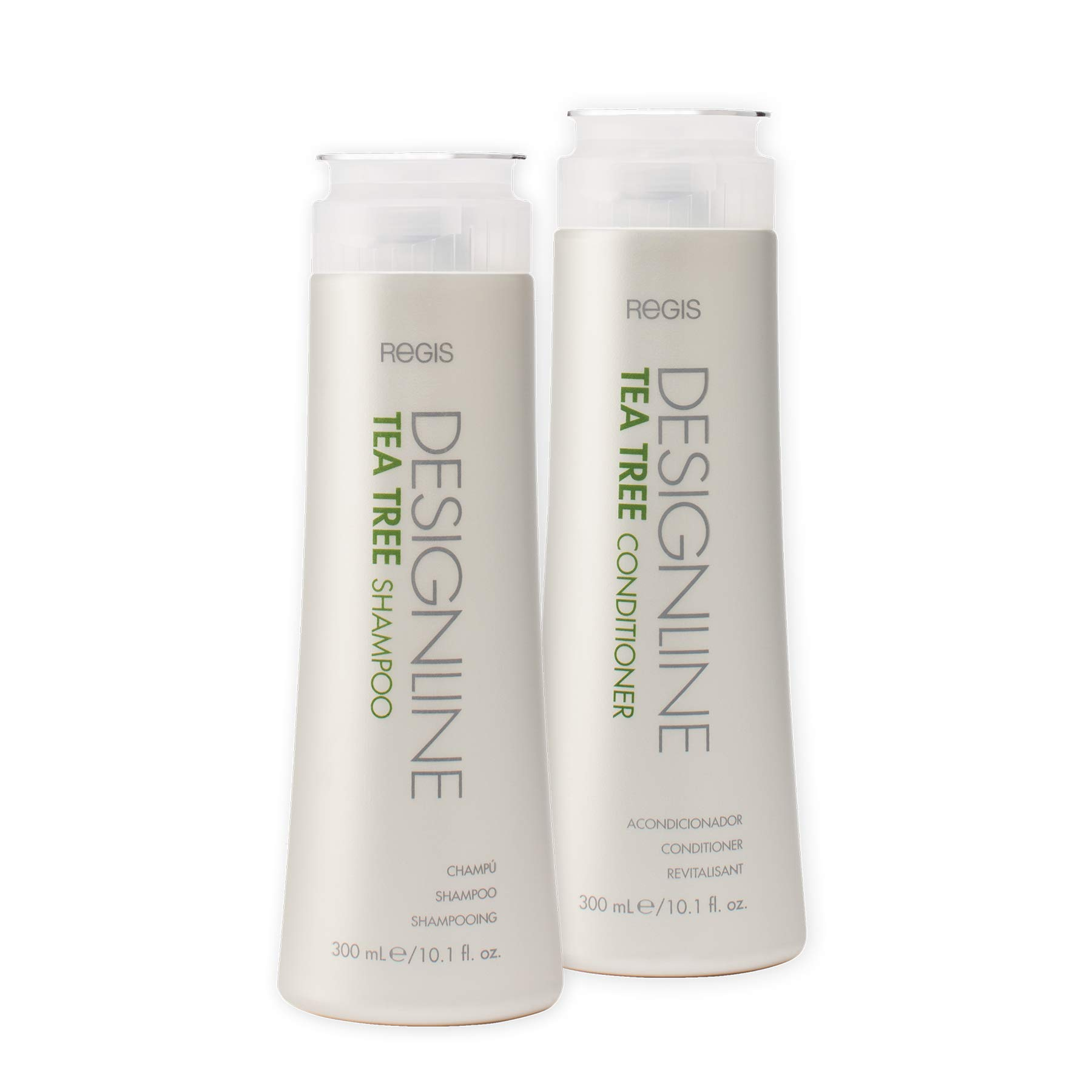 Tea Tree Shampoo and Conditioner Duo Pack, 10.1 oz - Regis DESIGNLINE - Helps Invigorate and Rehydrate Dry, Sensitive Scalps and Balances Hair and Scalp Oil for Shine, Softness, and Manageability by DESIGNLINE