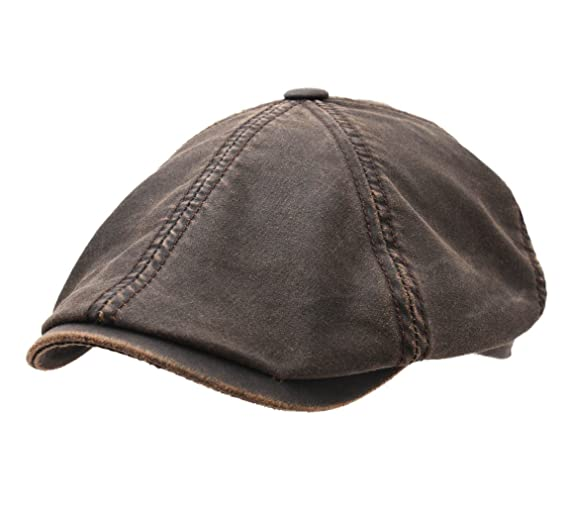 644e917b92d Stetson Brooklin Co Newsboy Cap Size M Brown-6 at Amazon Men s ...