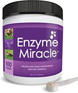 NUSENTIA Enzymes for Cats & Dogs : Enzyme Miracle (100 Servings) : for Digestive Stress, Pancreatic Concerns, and Healthy Weight Management.