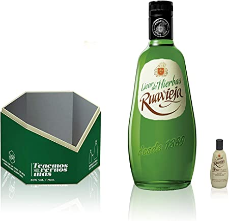 Ruavieja Licor de Hierbas - 700 ml + regalo Ruavieja Crema de Orujo miniatura - 50 ml