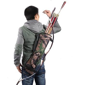 Pellor - caza al aire libre formación camuflaje tiro con arco flecha titular arco cinturón aljaba correa parte lateral trasera de la cintura para colgar: ...
