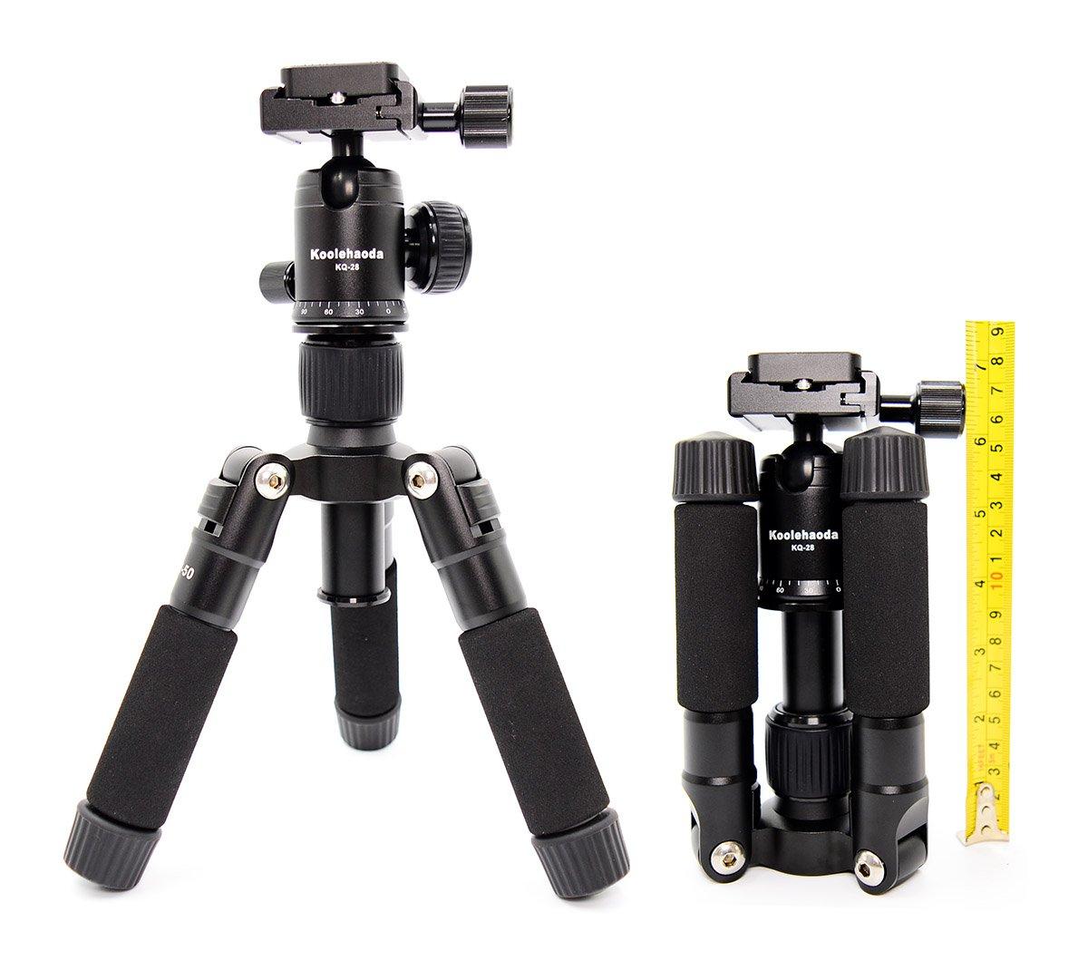 Koolehaoda Portable SLR Camera Tripod Monopod /& Ball Head Portable Compact Travel