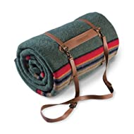 Pendleton Twin Camp Blanket with Carrier - Green Heather