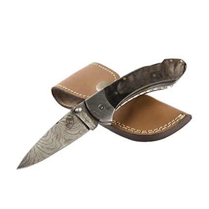 Amazon.com: Cuchillos Ranch Acero de Damasco cuchillo 4 – 1 ...