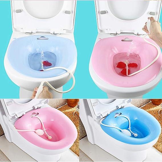 Sitz Bath Over The Toilet Lavabo Personal Para Viajes Color Azul Evita Sentadillas Azul Bid/é Port/átil Para Inodoro Est/ándar
