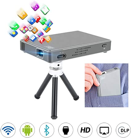 LLVV Proyector Android DLP, Proyector de Video Bluetooth Android ...