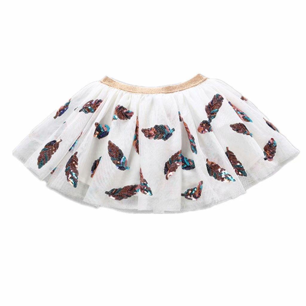 Tsyllyp Little Girls Tutu Skirt Mermaid Sequins Mini 2-10Years