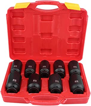 36mm 1//2inch Drive 12 Point Hex Deep Impact Socket Black Hub Nut Car Repair Tool