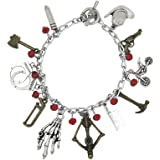 Walking Dead TV Series (11 Charms) Silvertone Charm Bracelet