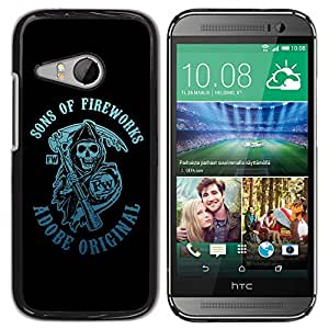 Planetar® ( Sons Of Fireworks Reaper ) HTC ONE MINI 2 / M8 MINI Fundas Cover Cubre Hard Case Cover