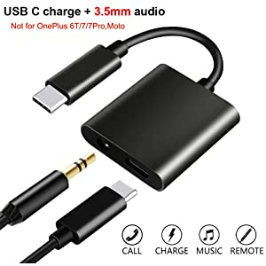 USB C to 3.5mm Headphone Adapter with Fast Charging Compatible for Pixel 4 4XL 3 3XL 2 2XL, Galaxy Note 10/10+,iPad Pro 2018, HTC, Essential Phone,XiaoMi and More USB C Phone(Not for Moto and OnePlus)
