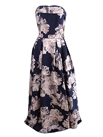 45f631aa3b43e Xscape Women's Long Brocade Strapless Ballgown at Amazon Women's Clothing  store: