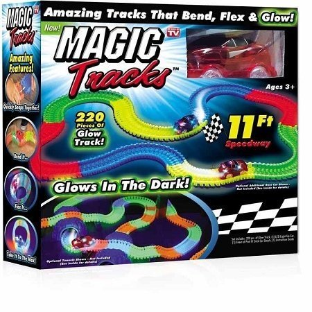 Magic Tracks 220-Piece Glowing Track Set (Slinky Dog Toy Story Costume)