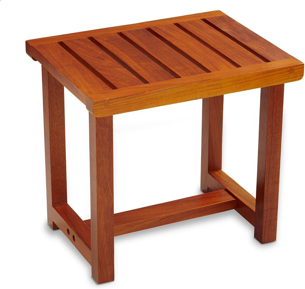 Conair Home Solid Teak Spa Bench Modern Look