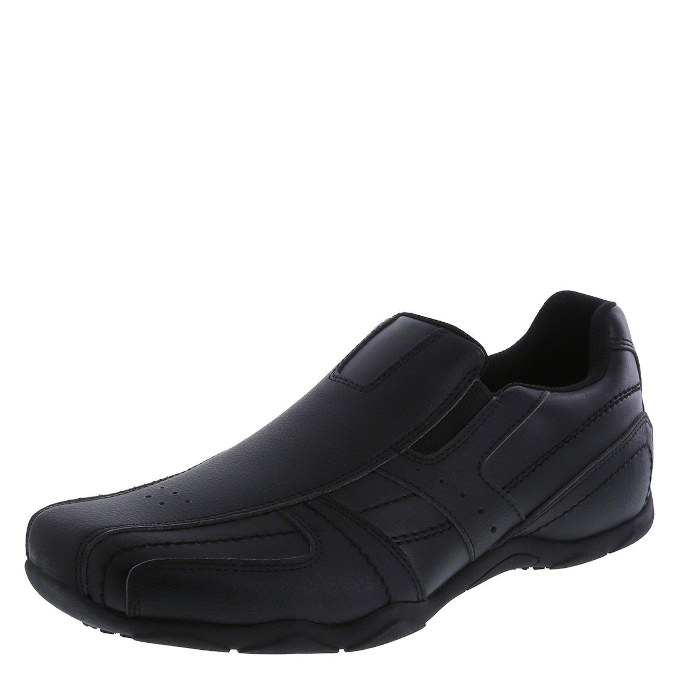 safeTstep Slip Resistant Men's Black Men's Simon Slip-On 11 Regular by safeTstep