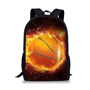 Amazon.com: DeePrint - Mochila escolar ligera de baloncesto ...