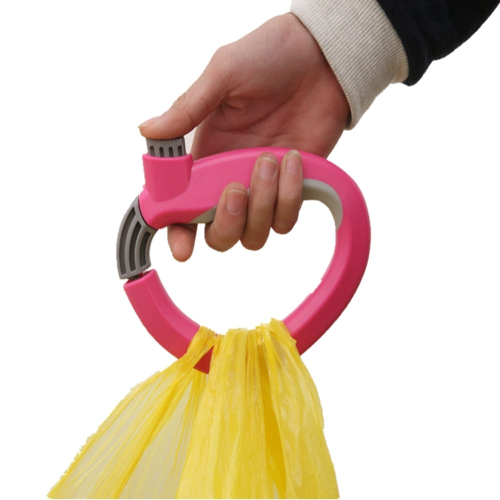 Portable Carry Food Machine Handle Carry Bag Hanging Ring Shopping Helper Tools Green