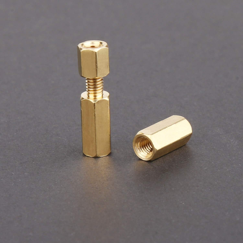 surtidos kit para placa base Vegena 120 unidades M3 Lat/ón distanciadores PCB Hex masculino rosca tornillos de distancia perno distanciador tuercas