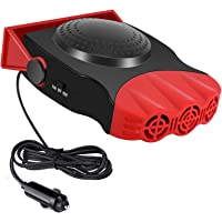$23 » Upgrade Car Heater, 2 in 1 Portable Fast Heating Car Heater with Heating & Cooling Function Defroster Defogger 12V 150W, 3-Outlet Plug…