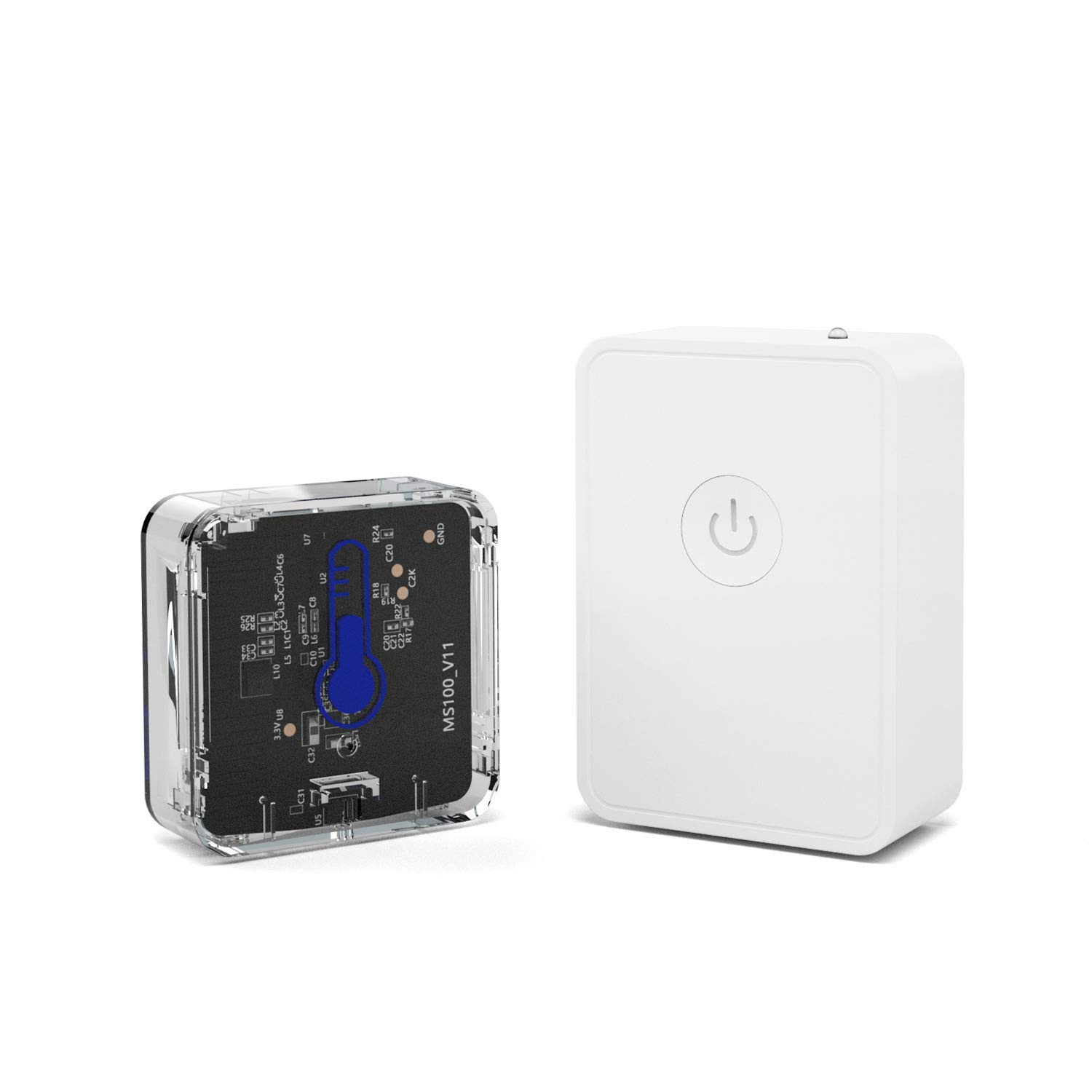 meross Wireless Temperature and Humidity Monitor Sensor with Alerts Thermometer & Hygrometer, Support IFTTT, Perfect for Your House Wine Living Room Baby Room Pet (Smart Hub Included)