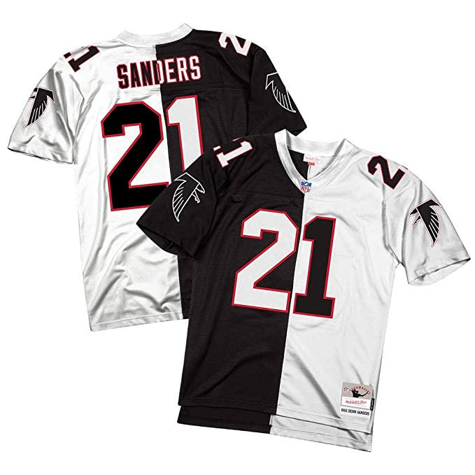 wholesale dealer 9e646 8d19c Amazon.com: Mitchell & Ness Deion Sanders Atlanta Falcons ...