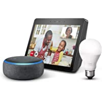 Amazon Echo Show (2nd Generation) Alexa-enabled Bluetooth Speaker w/ Premium Sound & Vibrant 10.1