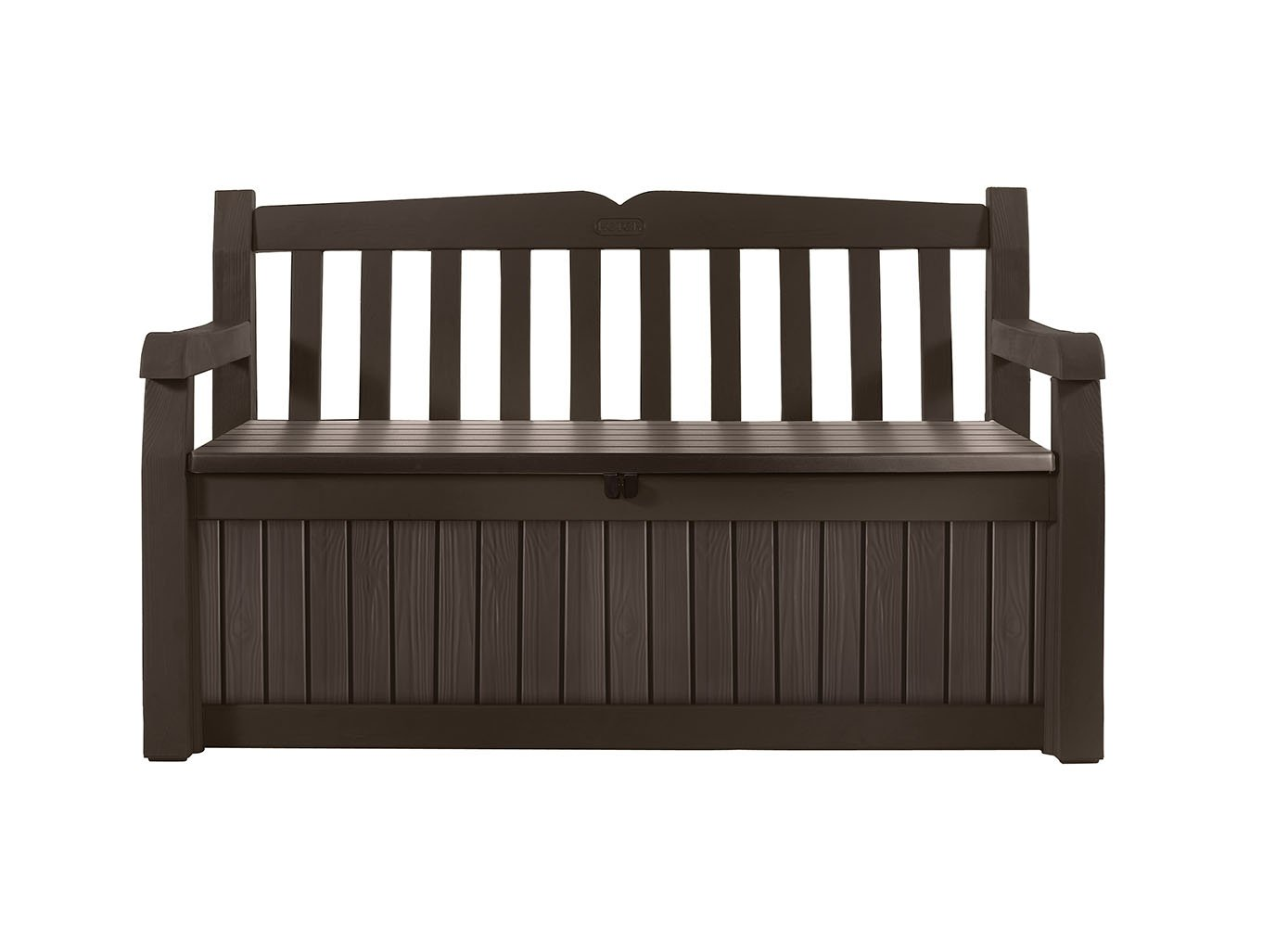 Keter Eden 70 Gallon All Weather Outdoor Patio Storage Garden Bench Deck Box, Brown/Brown by Keter