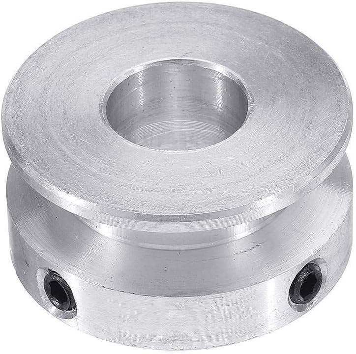 YAYANG Pulley 31x15 Ilver Lega di Alluminio Singolo Groove 5MM 6MM 7MM Foro puleggia Fissa for Albero Motore 3-5mm PU Rotonda Belt Tool Parts Bore Diameter : 5MM