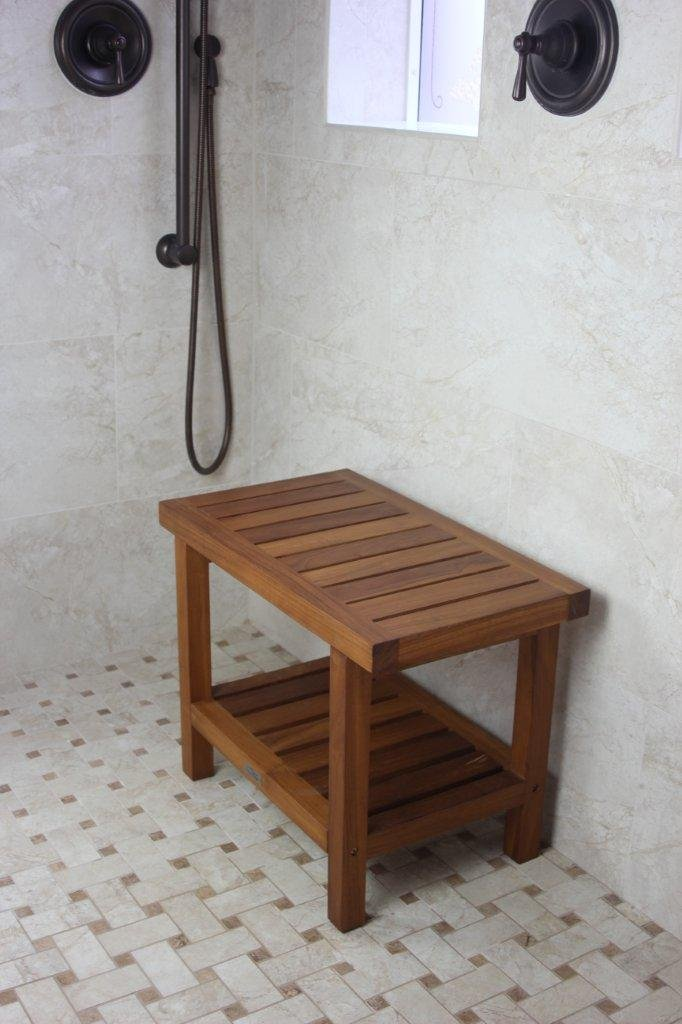 Amazon.com: Spa Teak Shower Bench - 24 , Bench Only: Health ...