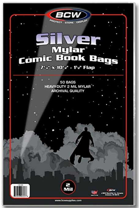 BCW (500) Silver Age Mylar Comic Sleeves - 2 Mil Thick