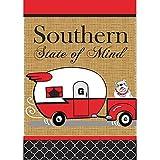 Southern State of Mind Camper Georgia Bulldog 18 x 13 Rectangular Double Applique Small Garden Flag