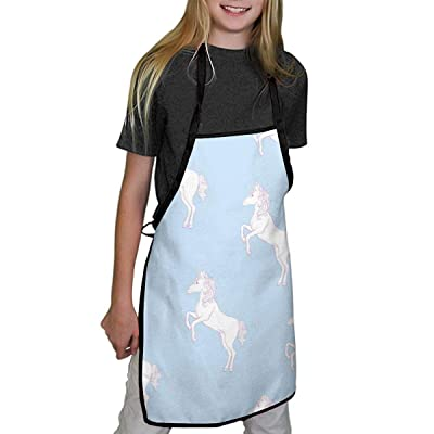Children's Aprons Light Unicorn Aprons for Kids Girls for Children Kichen Chef Aprons for Cooking Baking Painting and Party: Home & Kitchen