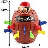 Sipobuy Pop Up Pirate Fun Barrel Gioco di Action Group in età prescolare per bambini, 19 * 13 cm