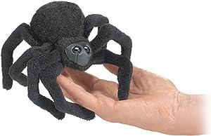 Folkmanis Mini Spider Finger Puppet, Black, 1 EA
