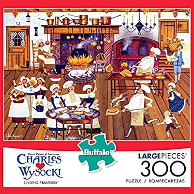 Buffalo Games - Charles Wysocki - Singing Piemakers - 300 Large Piece Jigsaw Puzzle: Toys & Games