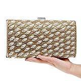 FstFshion Womens Pearl Evening Handbag Rhinestone Crystal Purses Beaded Party Clutch Bag