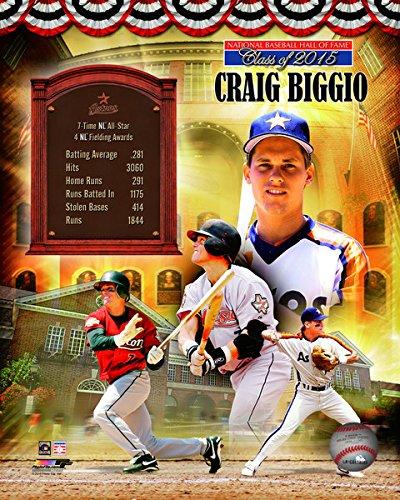 MLB Craig Biggio Houston Astros 2015 Hall of Fame Photo (Size: 8