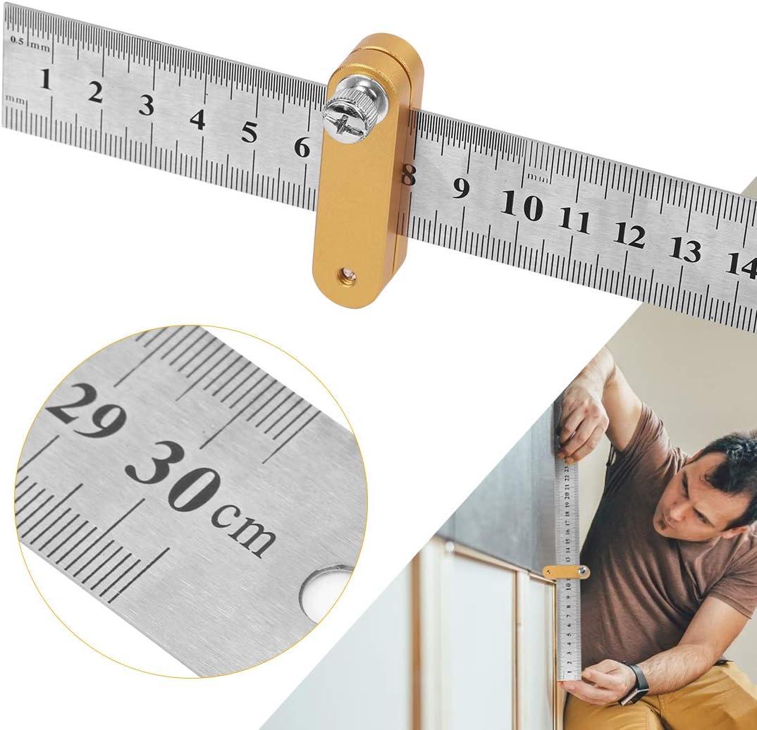 Regla Inoxidable,Regla Posicionamiento,Regla carpinter/ía,Regla L/ínea Localizador,Regla Escala
