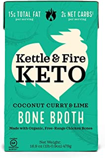 product image for KETTLE & FIRE Coconut Lime Curry Chicken Bone Broth, 16.9 OZ