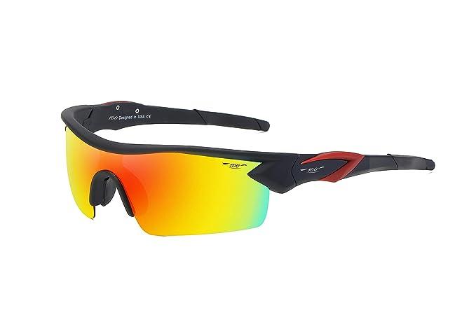 Amazon.com: 100 CLASSIC Gafas de sol deportivas TR90 marco ...