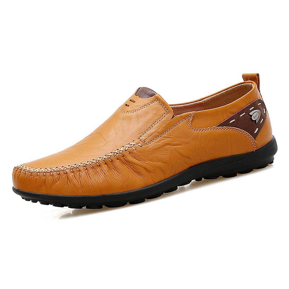 Liuxiaoqing Bottom Sommer Herren Freizeitschuhe Business Lederschuhe Soft Bottom Liuxiaoqing Breathable Schuhe Yellow Braun d0cf38