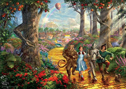 Thomas Kinkade Follow The Yellow Brick Road Puzzle - Jigsaw Puzzles 1000 Piece Disney