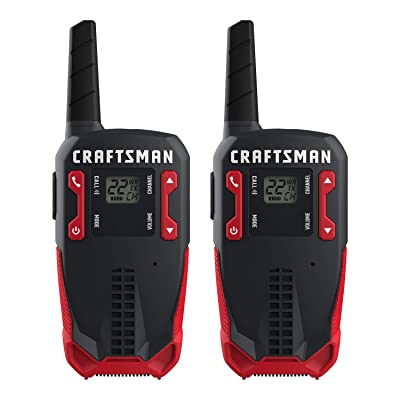 CRAFTSMAN 16-Mile Long Range Walkie Talkies for Adults - Rechargeable Two Way Radios with VOX - CMXZRAZF118 (2 Pack) [5Bkhe1013216]