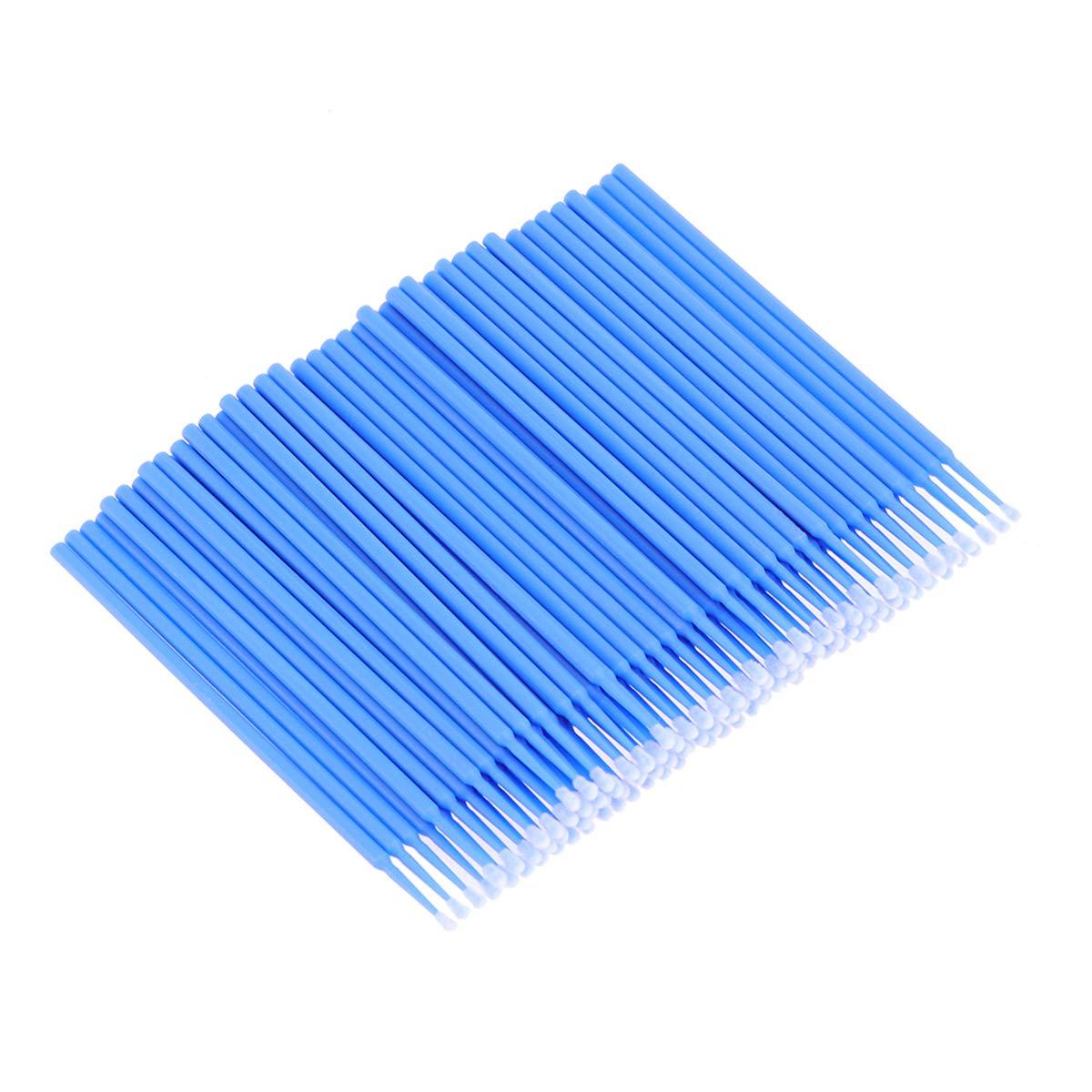 Lurrose 200 unids Micro cepillos desechables aplicadores hisopo de algod/ón para extensiones de pesta/ñas injertar pesta/ñas falsas eliminar palillo de limpieza tama/ño grande