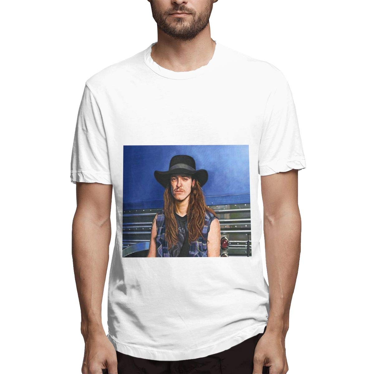 Lihehen S Cliff Lee Burton Simple Casual Round Neck Shirts