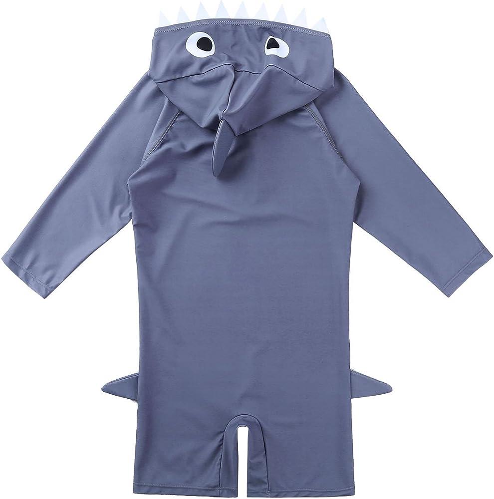 Amazon.com: TiaoBug – niños, niñas Rash Guard Shark traje de ...
