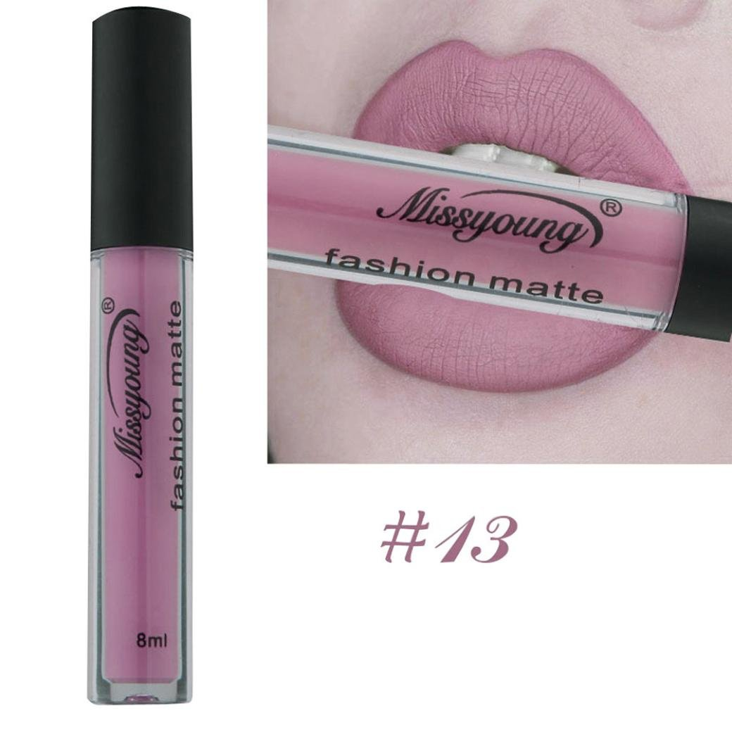Banstore 18 Colors MISS YOUNG Tint Lip Balm Matte Liquid Lipstick Makeup Romate Halo Lip Gloss (H)