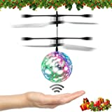 [Speed Running] RC Toys, Veeki RC Flying Ball,Infrared Induction Helicopter Ball Built-in Shinning LED Recessed Turn Signal Lights Remote Control Toy for children, teenagers
